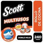 Rollo De Cocina Scott Multiusos 240 Paños X3