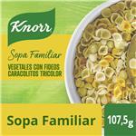 Sopa Vegetales Con Fideos Caracolitos Tricolor KNORR     Sobre 86 Gr