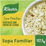 Sopa Vegetales Con Fideos Letras KNORR     Sobre 86 Gr