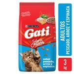 Alimento Para Gato GATI Pescado, Arr Y Esp Bsa 3 Kg
