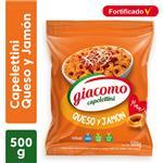 Capelettini GIACOMO Jamón Y Queso Paquete 500 Gr