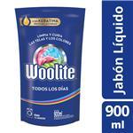 Jabón Liquido Woolite Todos Los Días Doypack 900 CC