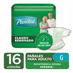 "Pañales Adulto PLENITUD Classic  ""G"" 16 Unidades"