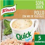 Sopa Pollo Con Mix De Vegetales KNORR  Quick Light Caja X 5 Sobres