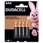 Pila Duracell Drlk Aaa X 4 Unid . . .