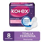 Toalla Femenina KOTEX Nocturna X8