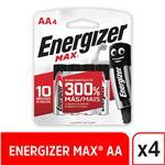 Pila Energizer Max Aa X 4 . . .