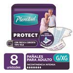 "Pañales Adulto PLENITUD Protect  ""G"" 8 Unidades"