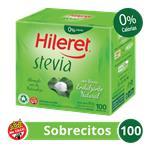 Edulcorante HILERET Stevia     Caja Sobres X 100