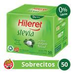 Edulcorante HILERET Stevia     Caja Sobres X 50