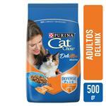 Alimento Adultos PURINA CAT CHOW DELI MIX 500 Gr Pollo, Carne Y Salmón