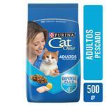 Alimento Adultos PURINA CAT CHOW 500 Gr Pescado Y Mariscos