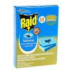 Tabletas RAID Mata Mosquitos 12 Noches Dob Accion Cja 12 Un