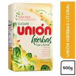 Yerba Mate Union Hierbas Del Litoral Con Palo Suave Paquete 500 Gr