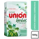 Yerba Mate Union Hierbas Serranas  Suave Paquete 500 Gr