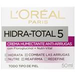 Crema LOREAL Hidra-Total5 Humectante Anti-Arruga Cja 50m