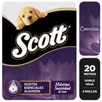Papel Higiénico SCOTT Plus Junior Doble Hoja Paquete 4 Unidades