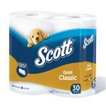 Papel Higiénico SCOTT Gold Doble Hoja Paquete 4 Unidades