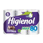Papel Higiénico HIGIENOL Max Simple Hoja Paquete 6 Unidades