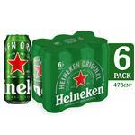 Cerveza Lager HEINEKEN   Pack Latas 473 Cc 6 Unidades