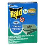 Tabletas RAID Mata Mosquitos 24 Noches Fresh Cja 24 Uni