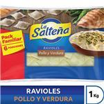 Ravioles Pollo/Verdu LA SALTEÑA Bli 1 Kgm