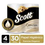 Papel Higiénico SCOTT Esencias Doble Hoja Paquete 4 Unidades