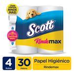 Papel Higiénico SCOTT   Doble Hoja Paquete 4 Unidades