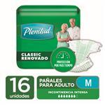 "Pañales Adulto PLENITUD Classic  ""M"" 16 Unidades"
