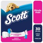 Papel Higienico Scott Rindemax 30mts X6