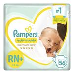"""Pañales  PAMPERS    """"RN"""" 56 Unidades"""