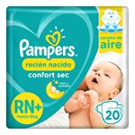 """Pañales PAMPERS Confort Sec """"RN"""" 20 Unidades"""