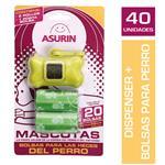 Bolsa P/ Heces Mascota ASURIN Rollo + Bolsas 33 X 22 Paq 3 U