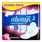 Toallas Femeninas ALWAYS Maxi Protección Nocturna     Paquete 16 Unidades