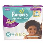 "Pañales  PAMPERS Premium Care   ""XXG"" 36 Unidades"