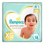 """Pañales PAMPERS Premium Care """"XG"""" 16 Unidades"""