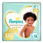 "Pañales  PAMPERS Premium Care   ""XXG"" 16 Unidades"