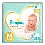 "Pañales  PAMPERS Premium Care   ""M"" 24 Unidades"