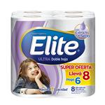 Papel Higiénico Elite   Doble Hoja Paquete 8 Unidades