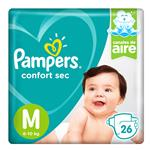 """Pañales PAMPERS Confort Sec """"M"""" 26 Unidades"""