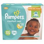 "Pañales Pampers Confort Sec ""Xxg"" 36 Unidades"