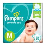 """Pañales PAMPERS Confort Sec """"M"""" 52 Unidades"""