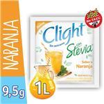 Jugo En Polvo CLIGHT Naranja Light Stevia Sobre 9.5 Gr