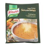 Sopa Crema Camarón Con Vegetales KNORR  Sensaciones  Sobre 49 Gr