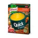 Sopa Crema Zapallo Con Parmesano Y Jamón KNORR  Quick  Sobre 70 Gr