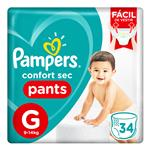 """Pañales PAMPERS Confort Sec """"G"""" 34 Unidades"""