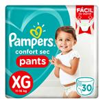 """Pañales PAMPERS Confort Sec """"XG"""" 30 Unidades"""