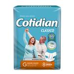 "Pañales Adulto COTIDIAN Classic   ""G"" 8 Unidades"