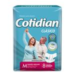 """Pañales Adulto COTIDIAN Classic """"M"""" 8 Unidades"""