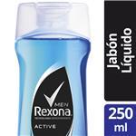 Jabon Liquido Active REXONA Bot 250 Ml